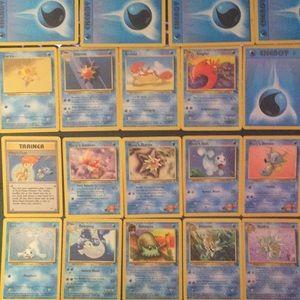 Water Pokemon cards bundle
